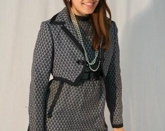 Vintage 1960s Geoffrey Beene Suit: 60s Dress and Jacket, Stanley Korshak Chicago, small