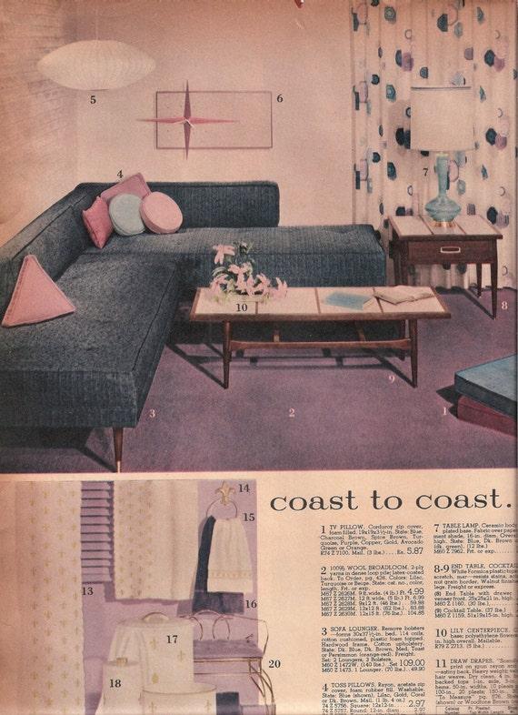 Vintage Flooring Vinyl Tile Carpet Rugs 1961 Spiegel Catalog