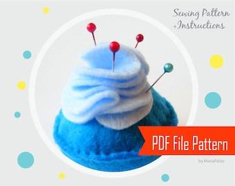 Pincushion Pattern - Felt Cupcake Pincushion Sewing Pattern , Cupcake Pattern  Instant Download A802