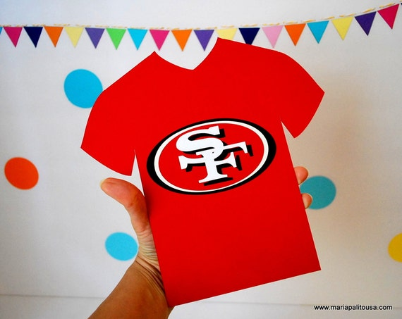 Football Team 49ers Jersey or any other Football team inspired Die cut A860