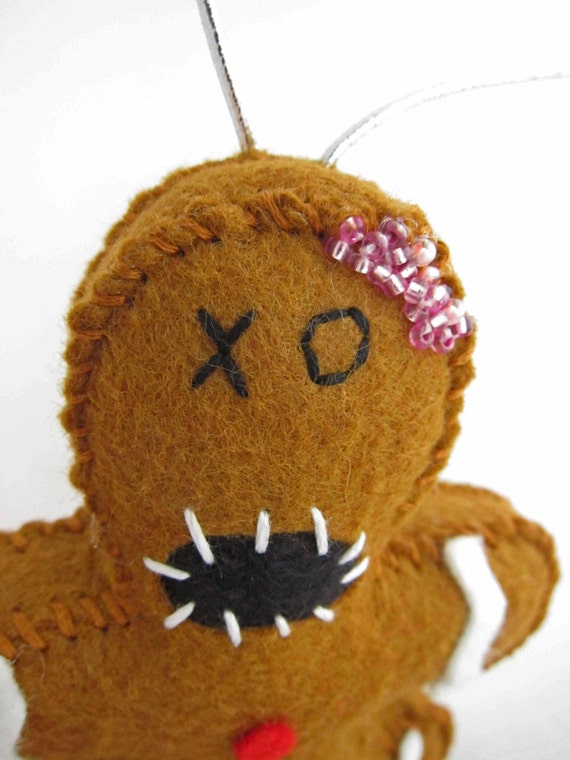 Zombie Gingerbread Man Ornament