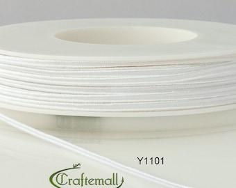 Soutache braid - Cellulose Acetate flat 3mm soutache cord - pure white (Y1101) - 5 meters