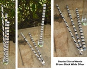 Beaded Wands Sticks Set of 3 Magic Tribal Cosplay Peyote Stitch Delica Czech Seed Beads Home Decor Wedding Birthday Party Favor Gift