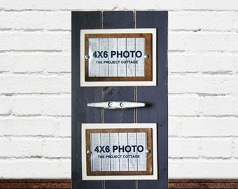 Double 4x6 Navy Blue Plank Frame with Boat Cleat