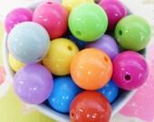 10x Massive 20mm Bubblegum Resin Juicy Globe beads Colour Mix