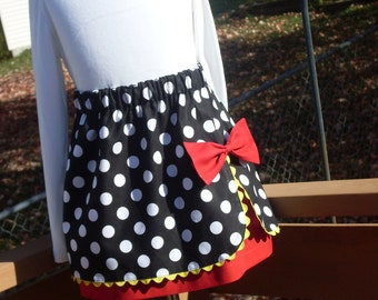 Buy Any 2 Skirts and Get 1 FREE, Minnie Mouse Wrap Skirt, Size 2, 3, 4, 5, 6, 7, 8, 9, 10, and 12