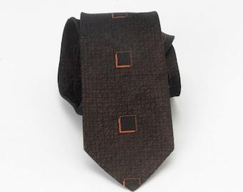 1950's Brown Silk Necktie