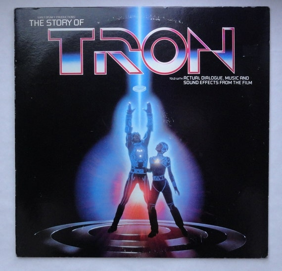 "Rare ""The Story of Tron"" Vinyl LP (1982) - Very Good Condition"