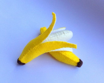 Felt food Banana set eco friendly childrens pretend felt play food for kids toy kitchen