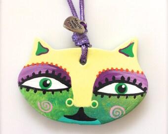 Colorful Cat Ornament