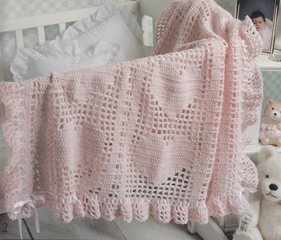 Crochet Afghan Patterns With Hearts : Hearts Baby Afghan Crochet Patterns 6 Beautiful by ...