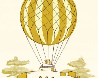 Airship 3 - A4 Limited Edition Print