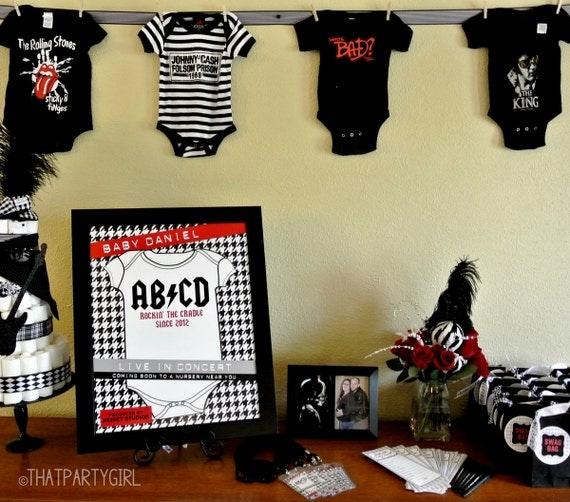 printable rock star nursery poster diy. Black Bedroom Furniture Sets. Home Design Ideas