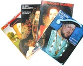 Vintage Coloring Books and Paper Dolls to Color, Elizabeth I, Henry VIII, Infamous Women and Renaissance