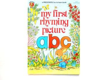 My First Rhyming Picture ABC, a Vintage Children's Alphabet Book