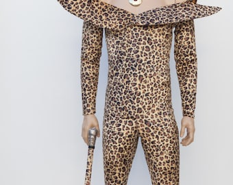 Ruby Rhod Chris Tucker Fifth Element Leopard Costume Suit DJ Couture Custom Made Cosplay