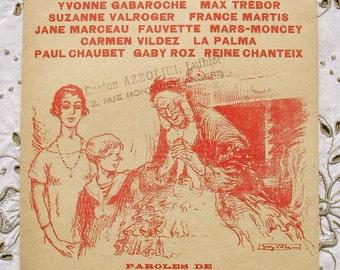 Vintage French Song / Sheet Music of 1926 - Sing, Sing Grandma