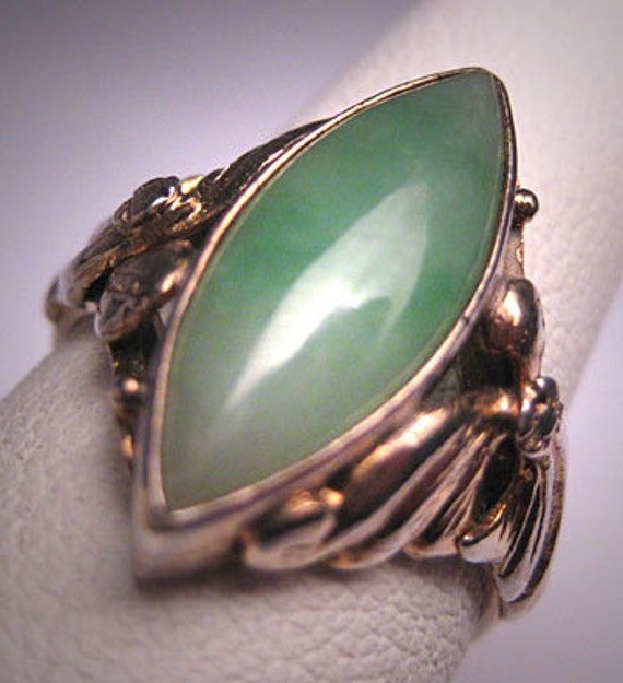 antique jade ring vintage deco