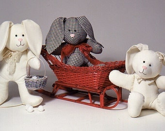 Snow Bunnies Esay To Sew Doll Pattern Carolee Creations