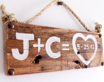 Personalized Love Sign Wood Custom Wedding Beach Wedding Outdoor Country White Wedding Reception Vintage Wedding Photo Prop Bridal Shower