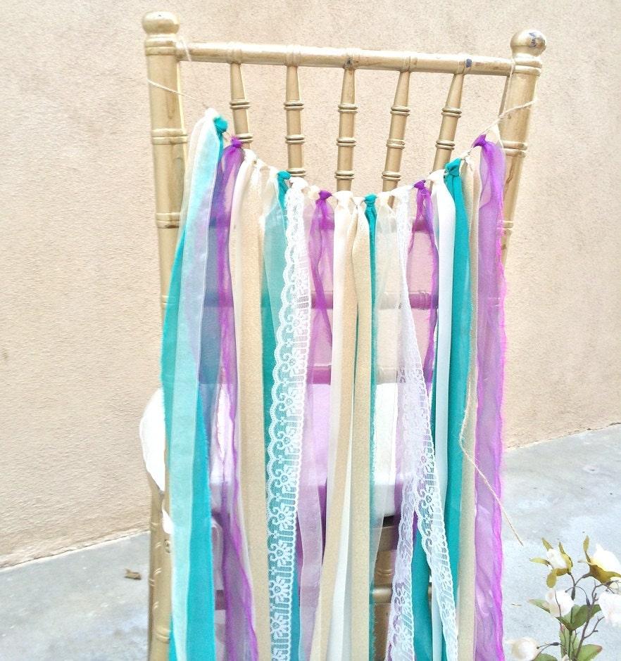 Ribbon Garland Ribbon Chair Cover Wedding Chair By