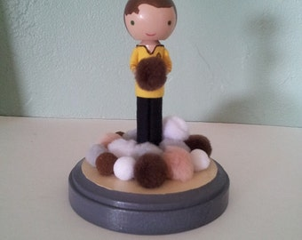 Captain Kirk with Tribbles - MADE TO ORDER