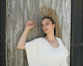 Hemp/Bamboo Knit Caftan Top in Oatmeal / Made To Order / Eco Friendly / Natural / Spring, Summer, Fall