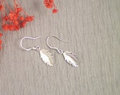 Sterling Siver Leaf Earrings, all Sterling Silver