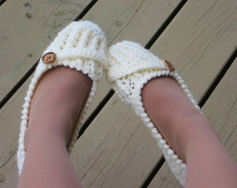 Slipper CROCHET PATTERN, US sizes 5 to 10, Woman's Slipper  Crochet Pattern, Anne Lee Slipper