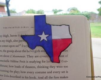Texas Bookmark - Magnetic, Laminated, Bluebonnets