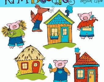 KPM Three pigs Digital Clip art