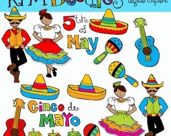 KPM Cinco De Mayo COMBO digital clipart and stamps
