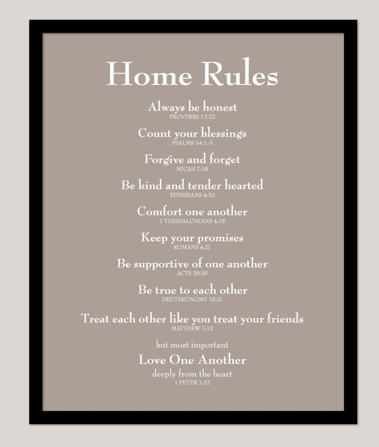 house rules chart template - scripture sign family rules poster house rules home by