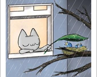 "Leaf Umbrella - fine art print 5""x5"""