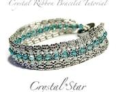 Crystal Ribbon Bracelet Tutorial