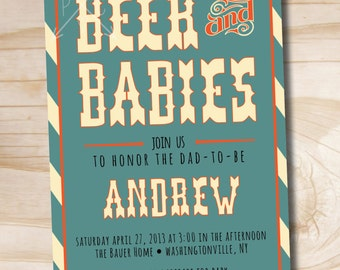 BEER AND BABIES Invitation or Huggies and Chuggies Invitation - diy