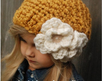 CROCHET PATTERN - Cornyll Slouchy (Toddler, Child, and Adult sizes)