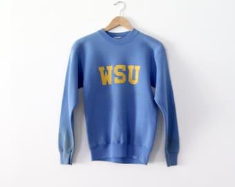 vintage WSU sweatshirt, 1980s college sweatshirt