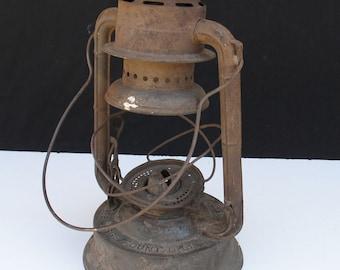 Rusted Antique Dietz Railroad Lantern - Dietz No.2 Large Fount D-Lite
