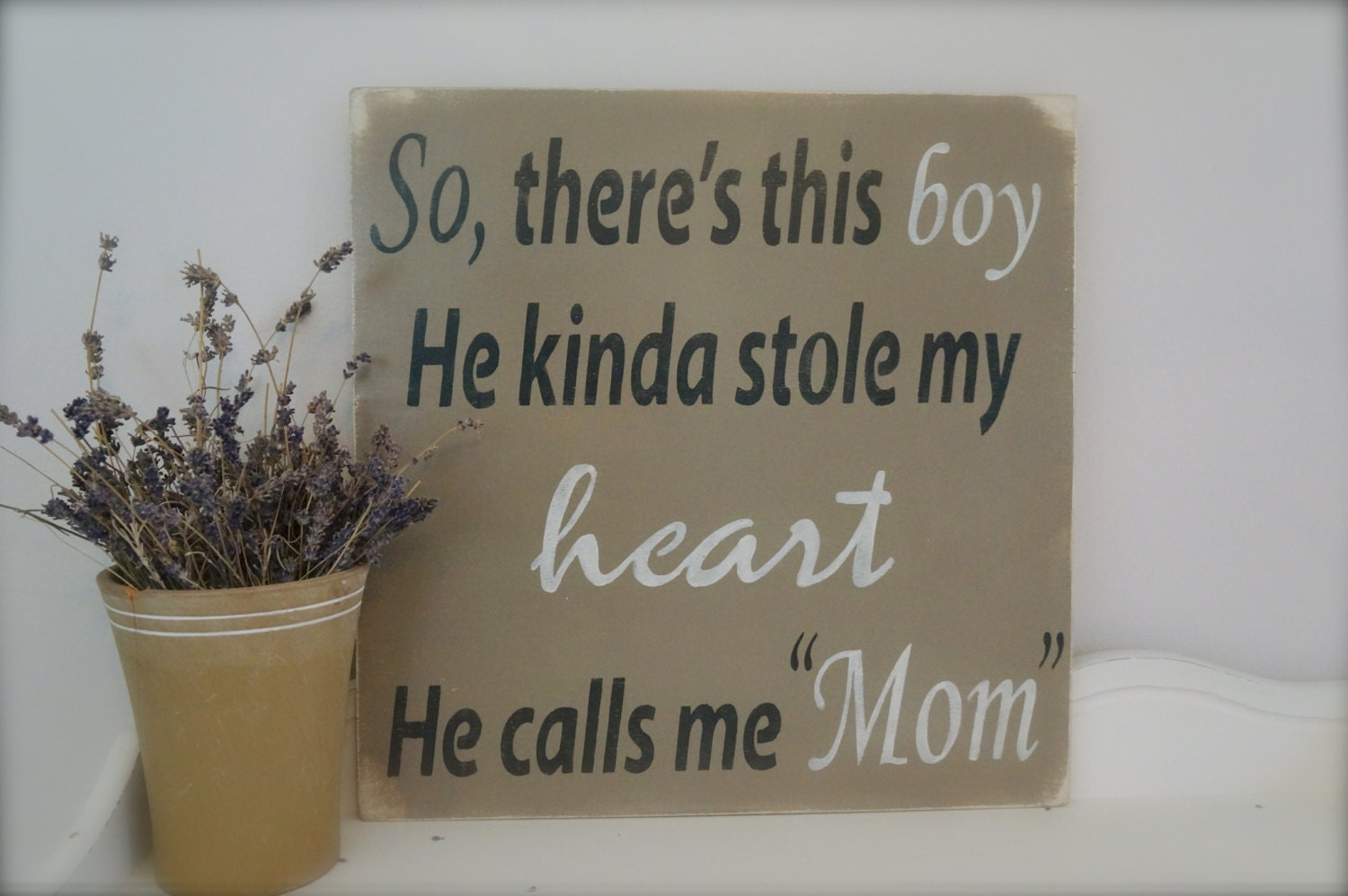 So There S This Boy Wood Wall Art Wood Sign Nursery