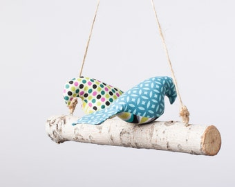 Love Birds - Birdies, Bird Swing, Bird Mobile in Gender Neutral/ Boy prints
