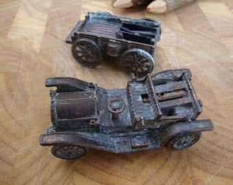 Hot Rod Vintage Metal Bronze Car Pencil Sharpener Gift for Him Roadster Wagon Antique Car Farm Equipment Patina 108