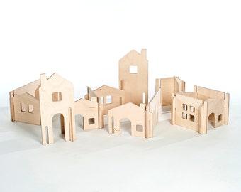 Wood DollHouse / DIY Doll house Kit