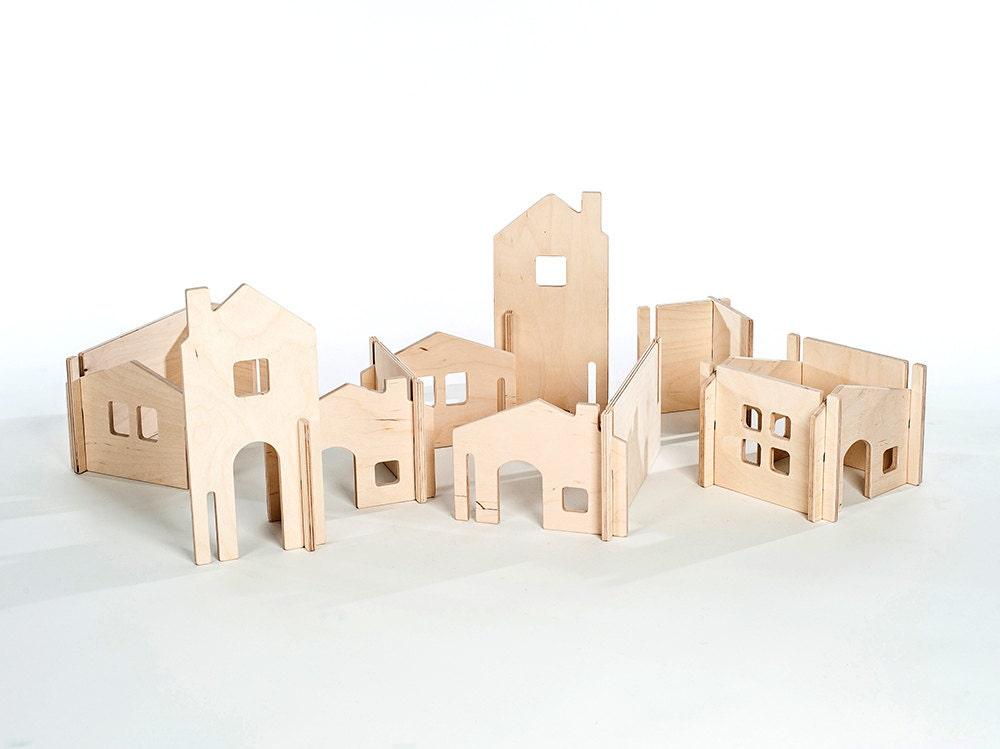 Wood Dollhouse Diy Doll House Kit