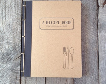 Made to Order Personalized Recipe Book- Large - Choose Your Own Binding