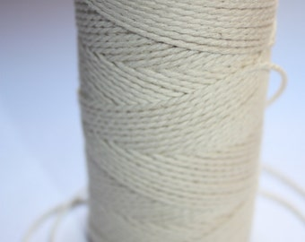 2 mm Cotton Yarn = 1 Spool = 110 Yards = 100 Meters of Natural and Elegant COTTON TWISTED CORD