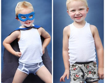 Classic Briefs and Boxer Briefs: Boys Underwear Sewing Pattern