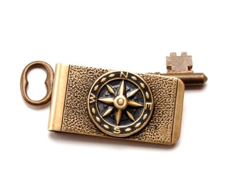 COMPASS ROSE Steampunk Money Clip Mens Money Clip Compass Money Clip Mens Steam Punk Money Clip Steampunk Jewelry By Victorian Curiosities