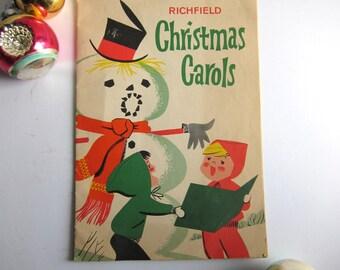 Christmas Carols, 1950s Richfield Dealer Gift Booklet