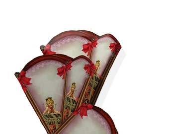 Valentine Candy holder cone gift box Victorian instant download